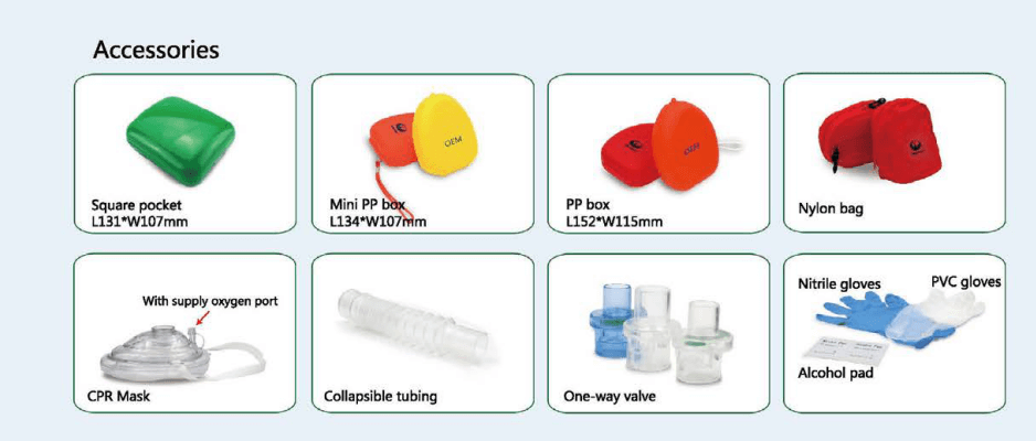 CPR mask & CPR face shield accessories