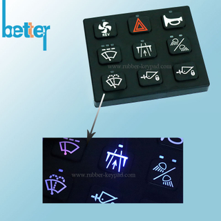 Customize Rubber Silicone Laser Marking Keypad
