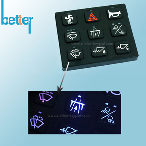 Customize Rubber Silicone Laser Mark Keypad