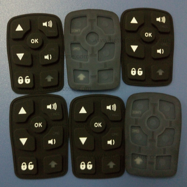 Customize Plastic Rubber Silicone Laser Carving Keypad