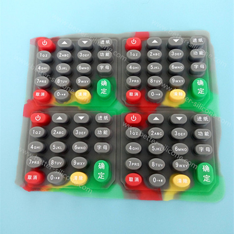 Custom Silk Screen Silicone Rubber Keypad