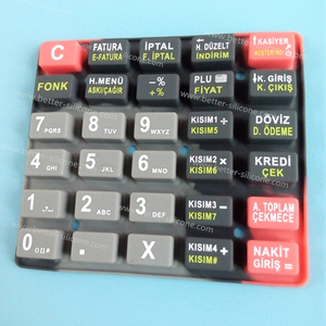 Custom Silk Screen Printing Silicone Rubber Keypad