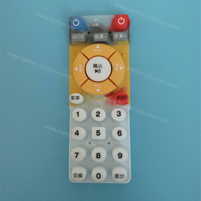 Custom Silk Screen Printing Silicone Rubber Button Pad