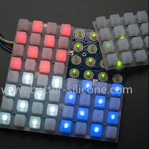 Silicone Rubber 4X4 LED Music Button Pad