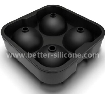 Customied 4 in Square Cocktail Silicon Rubber Ice Ball