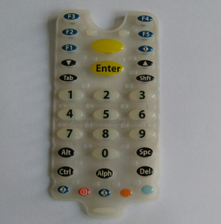 Epoxy Resin Coating Silicone Rubber Keypad