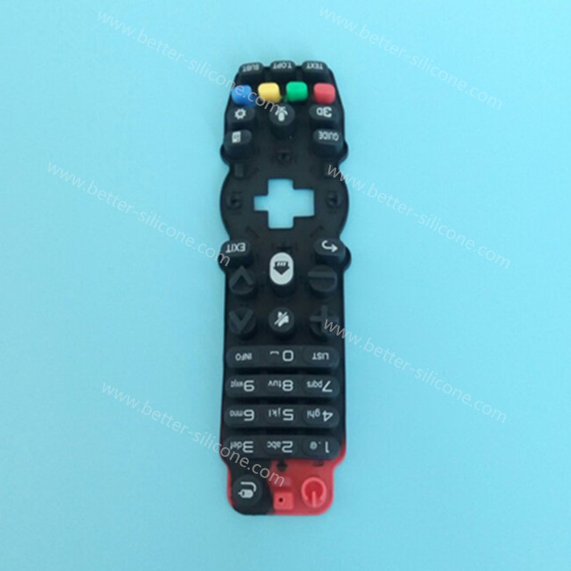 Custom Screen Printing Silicone Rubber Keypad